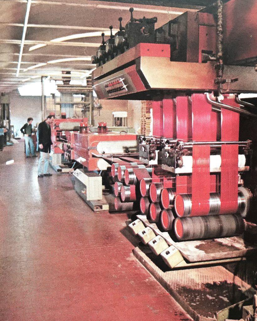 première ligne de production de fibre de polypropylène