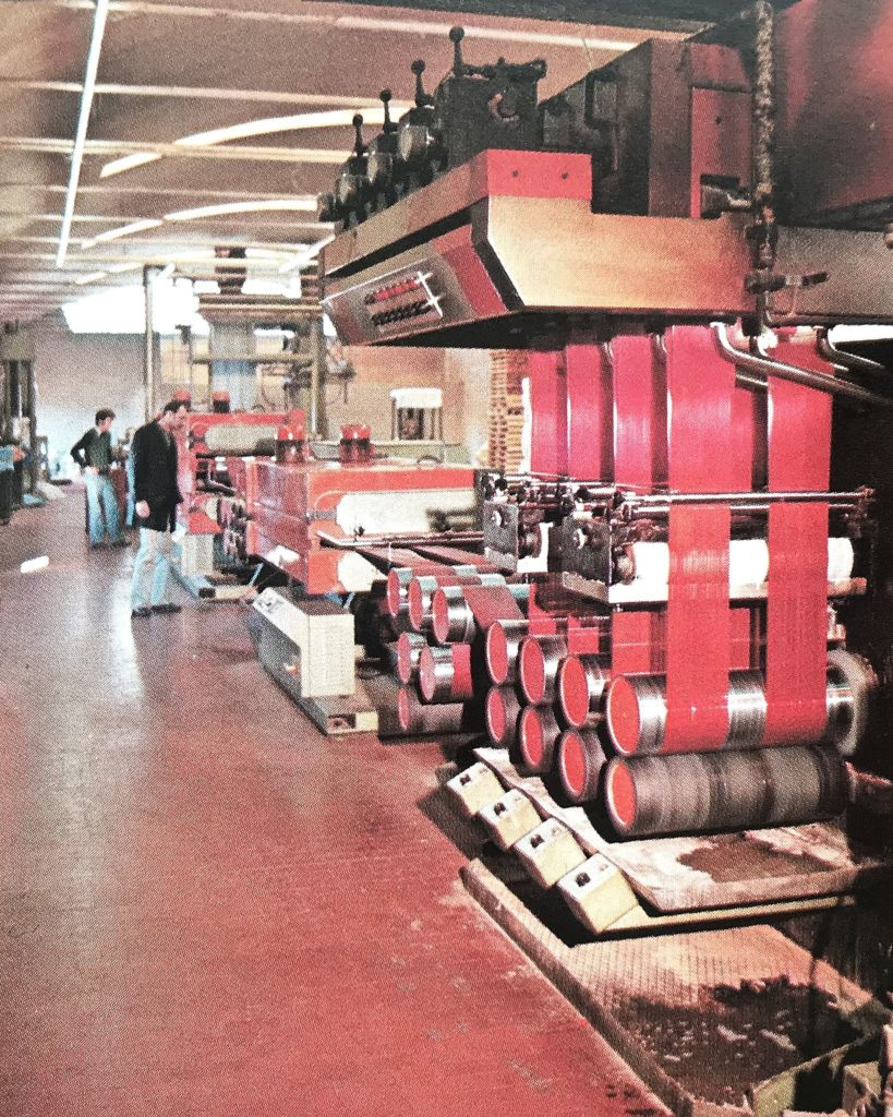 THE FIRST PRODUCTION LINE OF POLYPROPYLENE STAPLE FIBRE